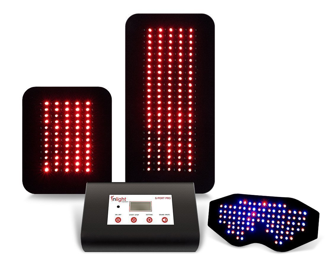 Inlight Therapy Inc. LED light system with 6 port controller and 3 LED pads