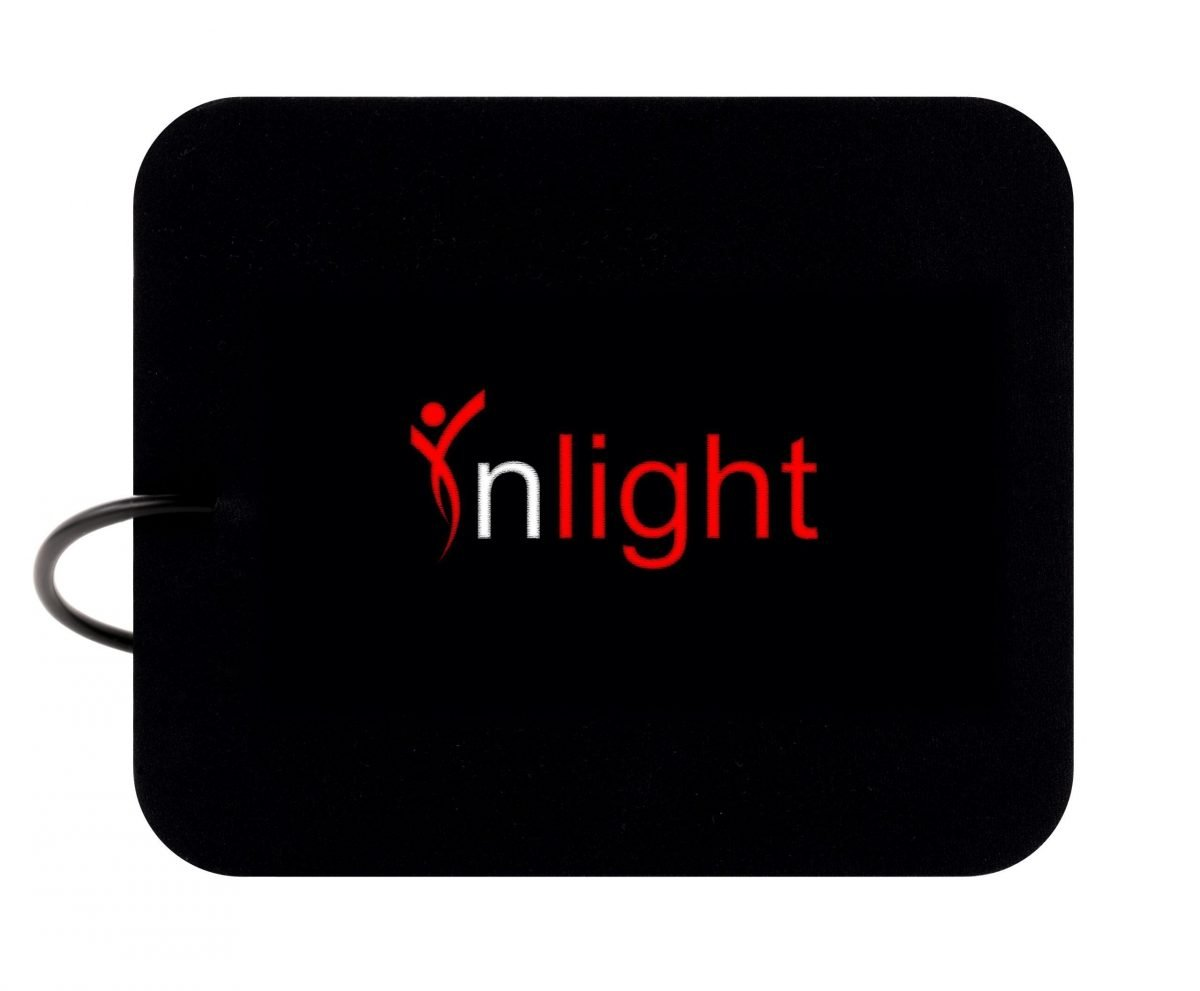The back side of an Inlight Therapy Inc LED light therapy pad is shown