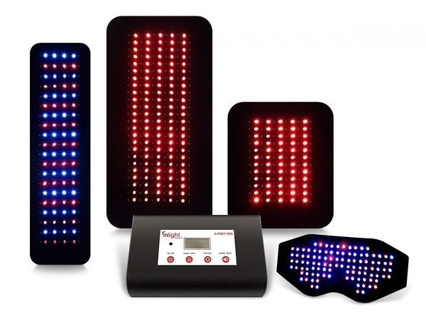 Inlight Therapy Inc. LED light system with 6 port controller and 4 LED pads
