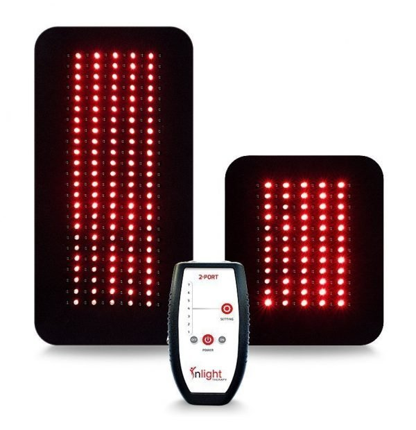 Inlight Therapy Inc. LED light system with 2 port controller and 2 LED pads