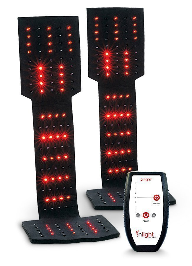 Inlight Therapy Inc. LED light system with 2 port controller and 2 LED pads for podiatric use