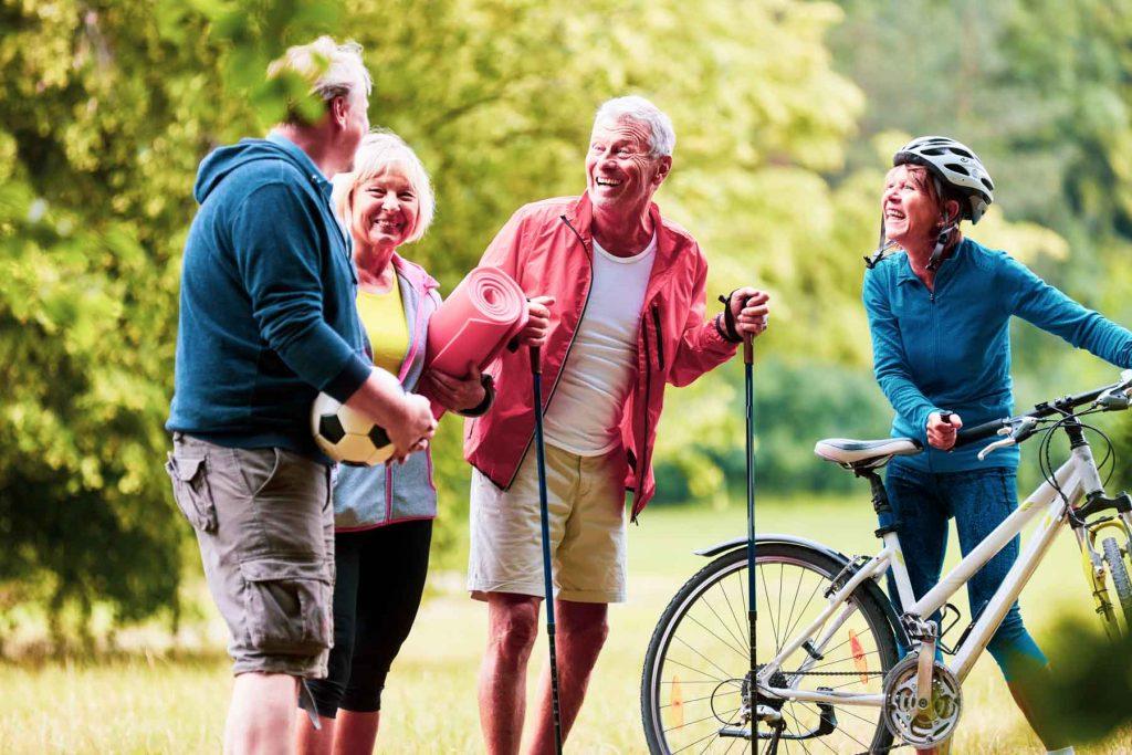 Seniors enjoying the outdoors